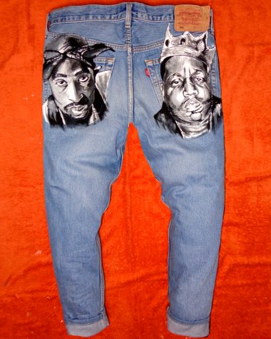 – Tupac Never Mano Big Jeans A Vintage Feat Dipinto Levi's Say qOxap4