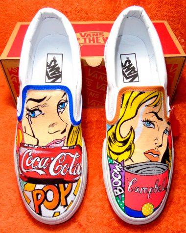 vans con disegni scarpe