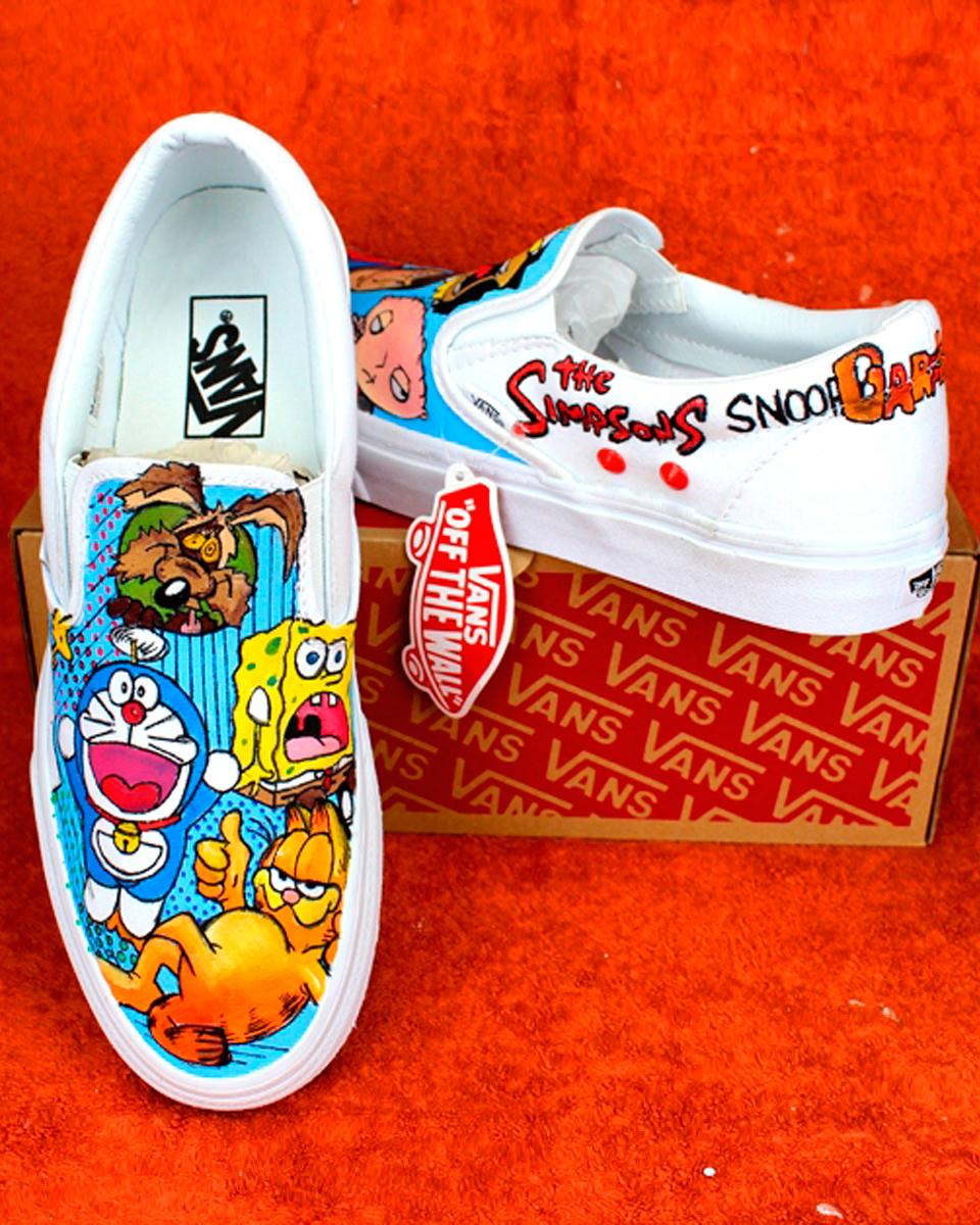 vans scarpe cartoni animati