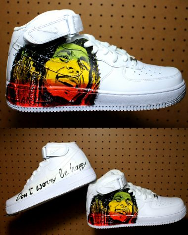 Nike Force Personalizzate Marley Scarpe Mano Dipinte Air A Bob ZZ1qwSxr5R