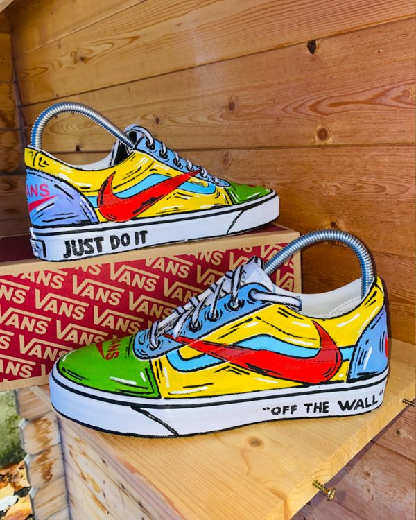 Vans Personalizzate dipinte a mano | Never Say Never